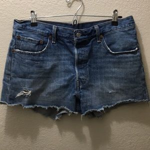 Levi's cut off shorts size 10/12 or 32 W